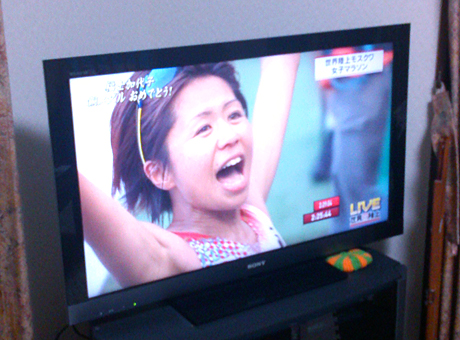 福士加代子世界陸上銅メダル